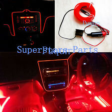 New 3M Red Neon LED Light Glow EL Wire Strip Rope Tube