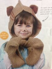 Children's All In One Winter Warmer Hat & Scarf DK KNITTING PATTERN - Ages 4+