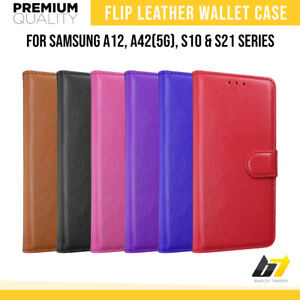Flip Leather Case for Samsung Galaxy A51 A12 S10 S21 S20FE Magnetic Wallet Cover