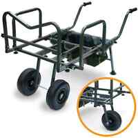 New Dynamic Carp Fishing Barrow With Storage Bag Double or Single Wheel Trolley