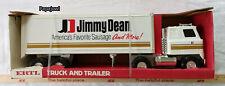Vintage Jimmy Dean Ertl Toys USA GMC 18 Wheeler Semi Truck & Delivery Trailer