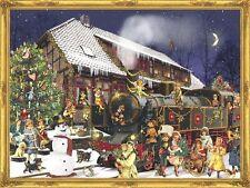 HOLIDAY Express Vittoriano Natale Treno cartolina AVVENTO CALENDARIO CON BUSTA