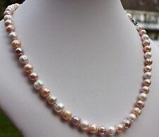 A19B 56cm Natural Perlas de Agua Dulce JOYA COLLAR COLLAR DE PERLAS Collar NUEVO
