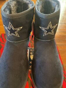 Cuce Women's Rookie Boots Dallas Cowboys Size 11 NEW Suede With Fuzzy Warm L