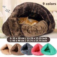 Pet Cat Dog House Kennel Puppy Cave Sleeping Beds Super Soft Mat Pad Warm Nest