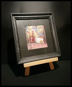SUPERB ANTIQUE BLOOMSBURY GROUP PAINTING IN LATER HAND PAINTED FRAME