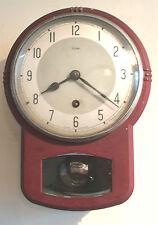"British Enfield 8 days Winding Movement Kitchen Wall Clock GWO 10""H 7.5""W 3.""D"