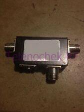 RF microwave dual junction circulator 948 MHz CF/  355 MHz BW/ 150 Watt/ data