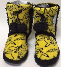 Pokemon Pikachu Allover Print Womens Boot Slippers - Small
