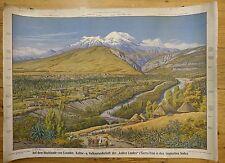 Schulwandbild. - Südamerika. - Anden. - Ecuador.ca. 79x109 cm   1906