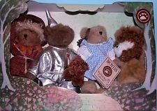 Boyds Bears plush Wizard of OZ set 4 pc. Dorothy, Lion, Scarecrow, Tin Man, Toto