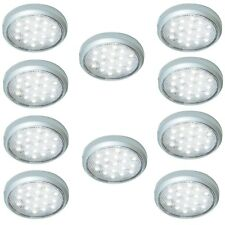 10 X 12V LED SURFACE SPOT LIGHT FOR CAMPERVAN CARAVAN MOTORHOME BOAT COOL WHITE