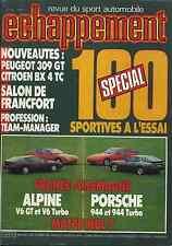 ECHAPPEMENT n°204 OCTOBRE ALPINE V6 GT & V6 TURBO PORSCHE 944 & 944 TURBO