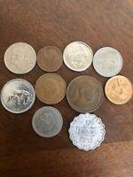 African Coin Lot: 10 - Malawi, Sierra Leone, Botswana, Zimbabwe, Kenya, Rhodesia