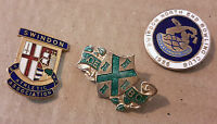 3 bowling badges, Swindon Athletic Association/North End Bowling Club & Hoe.