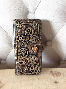 Steampunk iphone Mobile phone case 6,6S,7,8,9,10,11,XR,XS Apple HANDMADE