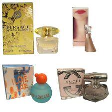 Womens Miniature Mini Travel Perfume x4 Moschino Versace Gucci Bamboo Kenzo