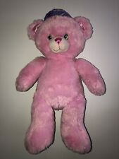 "Build A Bear 16"" Plush Disney Pink Princess Bear With Purple Crown"