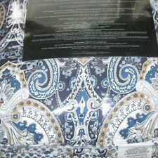 RALPH LAUREN Queen Comforter Set 4pcs MOROCCAN  PAISLEY  BLUE
