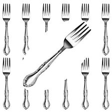 Restaurant Quality Heavy Duty Stainless Steel Windsor Dinner Forks Set 12 Pcs