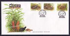 2001 Malaysia Birds --- Quails & Partridges, 3v Stamps FDC (KL Cachet) Best Buy
