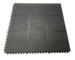 Rubber Gym Mat Floor Tiles | Heavy Duty 16mm Thick Interlocking 900 x 900mm