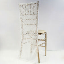 Ivory Lace Chair Cover Cap For Chivary / Cheltenham Chairs Vintage Wedding Decor