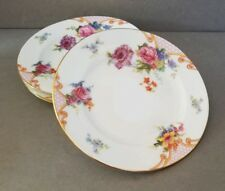Vintage EPIAG CZECHOSLOVAKIA BRIDAL ROSE (White) Set of 4 Bread & Butter Plates