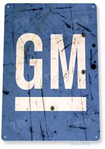 TIN SIGN GM Retro General Motors Service Auto Sales Shop Garage Store B097