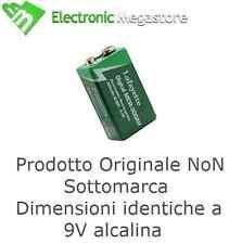 Batteria ricaricabile 9 volt ni-mh rettangolare confezione da 3 pezzi