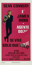 007 SI VIVE SOLO DUE VOLTE YOU ONLY LIVE TWICE LOCANDINA JAMES BOND SEAN CONNERY