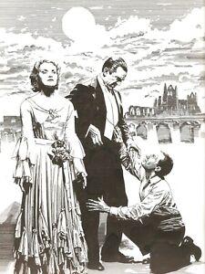Bela Lugosi as Dracula by comic book artist Richard Piers Rayner. A3 print.