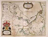 MAP ANTIQUE BLAEU SCOTLAND 1654 LAUDERDALE OLD LARGE REPRO POSTER PRINT PAM0611