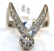 STUNNING 14K WHITE GOLD RING WITH 0.80 CTW DIAMONDS! 4.1 GRAMS #K5