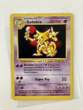 Pokemon 1999 Base Shadowless Kadabra No 32/102 English Wizards TCG Nintendo card