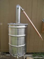 55 Gallon Moonshine Still, Whiskey Still, Ethanol, Heavy Duty Stainless Steel