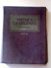 MOTOR'S FLAT RATE & PARTS MANUAL 1959 31ST EDITION VINTAGE AUTO BOOK