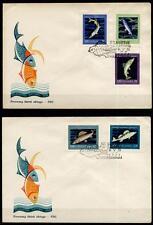 Edle Fische. 2 FDC. Polen 1958