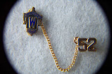 2 Lapel PINS STERLING Enamel JWH WILLOUGHBY 162 w/a #52