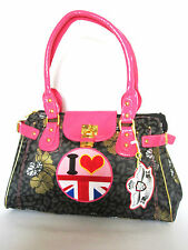 LADIES UNION JACK SATCHEL BOUTIQUE HANDBAG CROSS BODY SCHOOL BAG PAULS &PRINCE