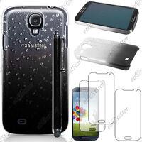 Housse Etui Coque Gouttelettes Noir Samsung Galaxy S4 i9500 + Stylet + 3 Films