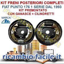 KIT FRENI POSTERIORI COMPLETI FIAT PUNTO 176 DAL 1993> FC180101 GANASCE TAMBURO