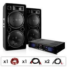 SET DJ PA 3000W CASSE ALTOPARLANTI AMPLIFICATORE FINALE KARAOKE DISCO PARTY PRO
