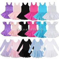 US Girls Gymnastics Ballet Dress Kids Leotard Tutu Skirt Dance Ballerina Costume