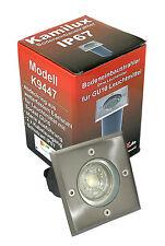 Bodeneinbauleuchte Bodo Edelstahl GU10 IP67 max. 50W Einbaulampe ohne LM