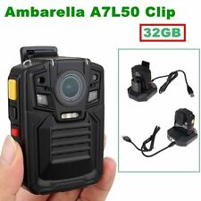 32GB HD 1296P Police Force Tactical Body Worn Camera IR Night 5~8 hours 140°Lens