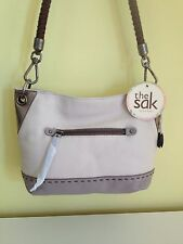 The Sak Indio Leather Demi Hobo Handbag/Tote - CLOUD SPARKLE BLOCK - NWT