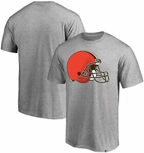 Cleveland Browns Men's Super Rival Team Logo T-Shirt - Gray