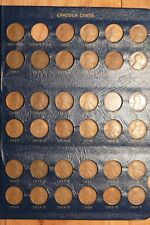 Lot of 261 Different Lincoln Cents in a Whitman Album