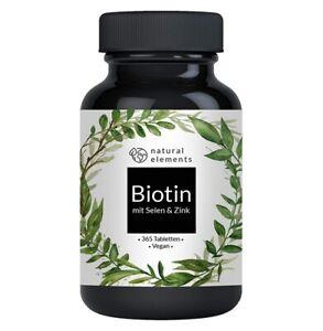 Biotin + Selen + Zink - 365 vegane Tabletten